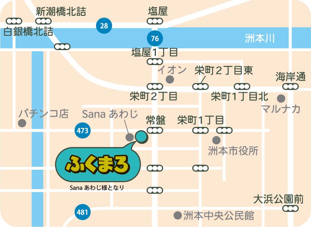 図:ふくまろの地図